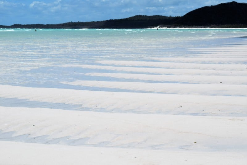 Whitehaven Beach on Whitsunday Island - the whitest beach in the world