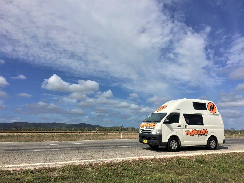 Campervan road trip in Australia - travellers autobarn Kuga campervan