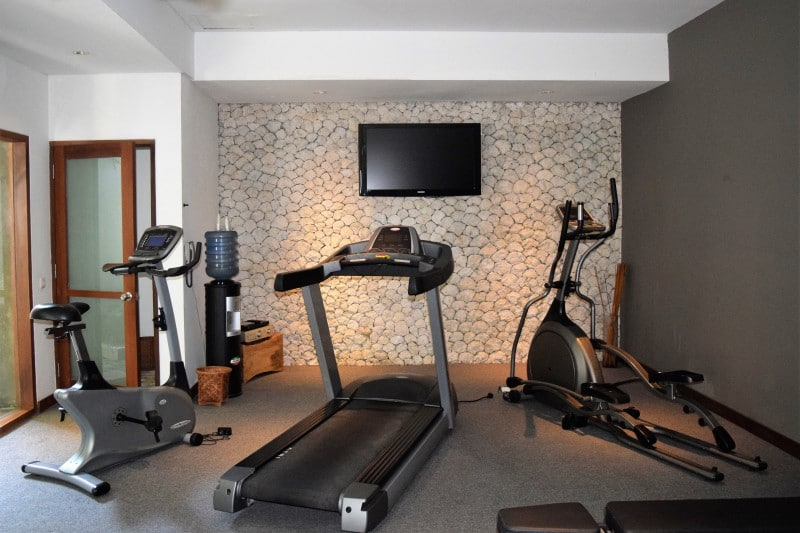 Private 24-7 gym to stay in shape at the Jamahal resort - luxury hotel on Bali