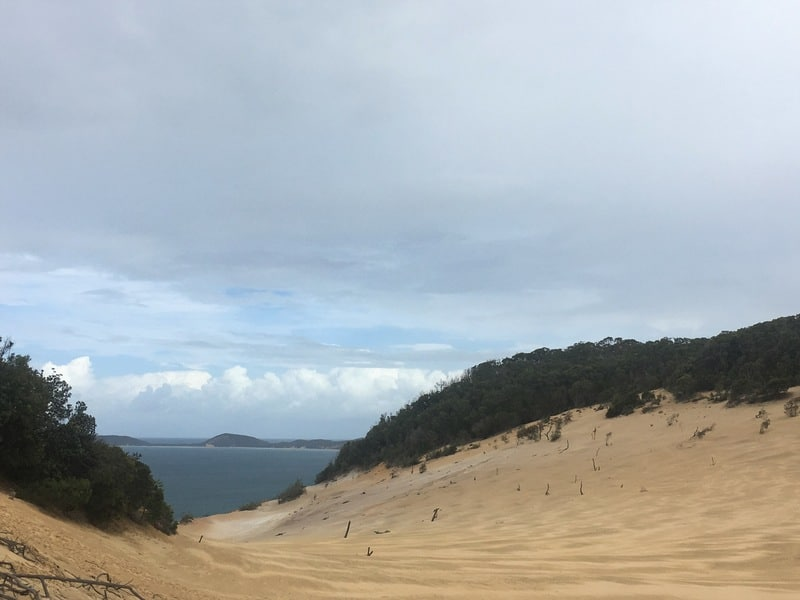 Carlo Sandblow on the Inskip Peninsula - must see on the East Coast Australia