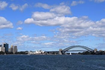 Sydney harbor - view from Manly ferry