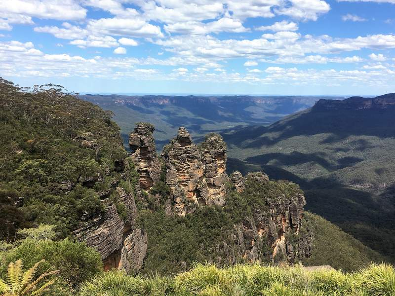 The Blue Mountains Australia - Echo point and the Three Sisters