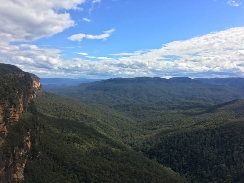 The Blue Mountains - view from Jamisons Lookout