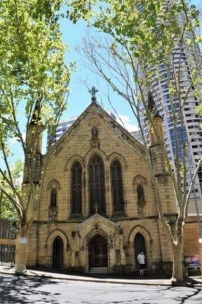 The Rocks - Sydney historic neighborhood - old church