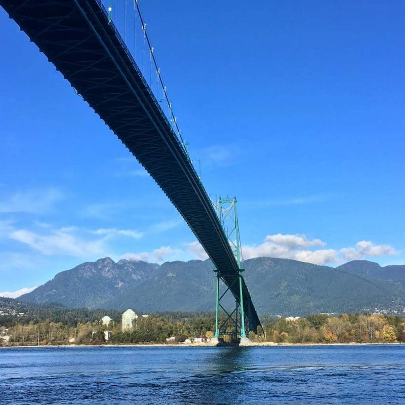 Lions Gate Bridge - a beautiful bridge in Vancouver connecting Stanley Park to North Vancouver