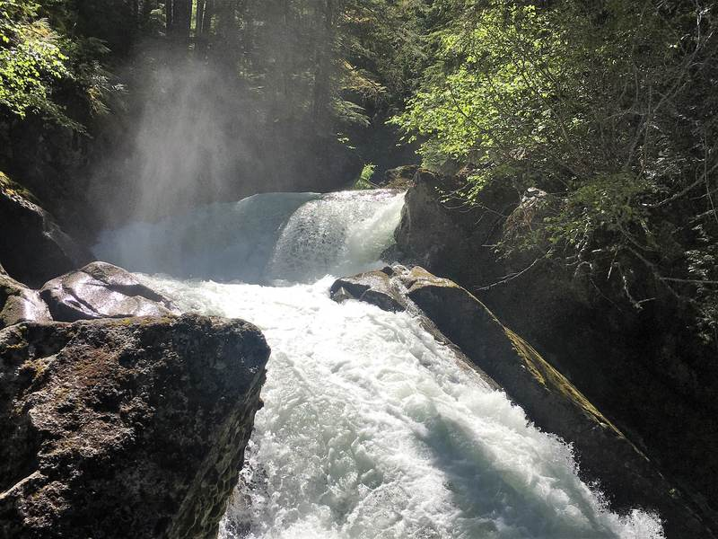 The Rainbow Falls are located close to Whistler and easily accessible via a short hiking trail