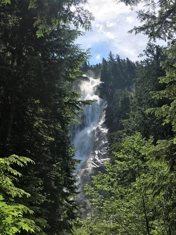 The Shannon Falls are the third highest waterfalls in British Columbia