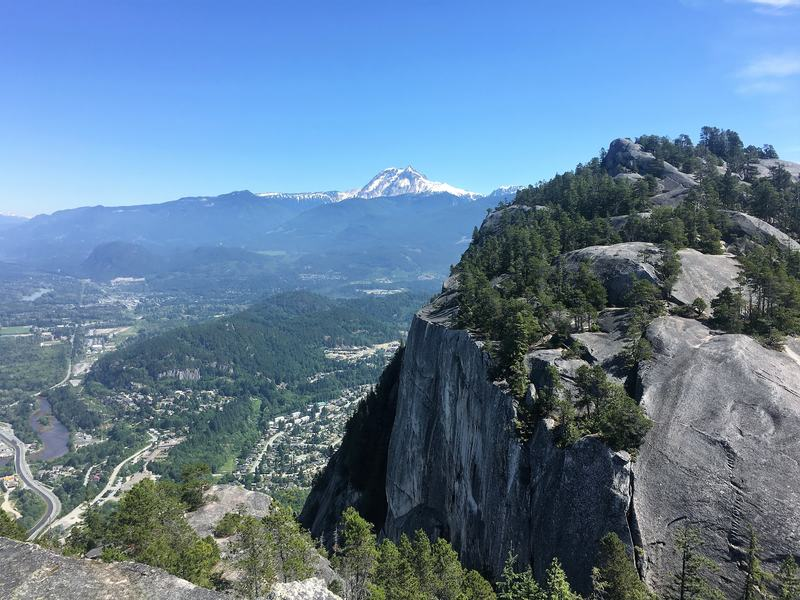 View from the First Peak of the Stawamus Chief, a beautiful Provincial Park in British Columbia and a famous rock-climbing spot.