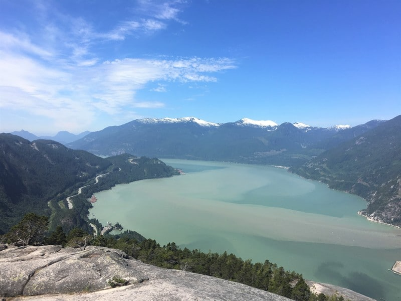 View from Stawamus Chief First Peak