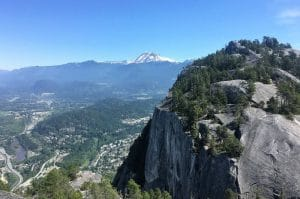 Stawamus Chief Provincial Park view over Squamish