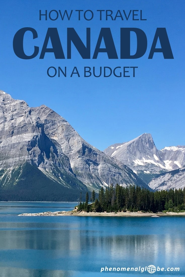 How to travel Canada on a budget! A trip to Canada doesn't have to be expensive, we spent less than €66/100 CAD per day during our road trip across Canada. Read a detailed budget breakdown and information about the costs of buying a campervan, campsites expenses, petrol prices and how much we paid for food & activities in Canada. #Canada #travelbudget