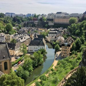 Luxembourg city - view from the Casemates du Bock