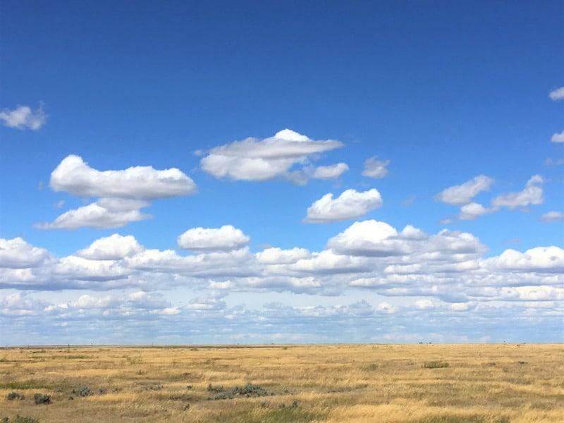 Beautiful Saskatchewan sky and prairie
