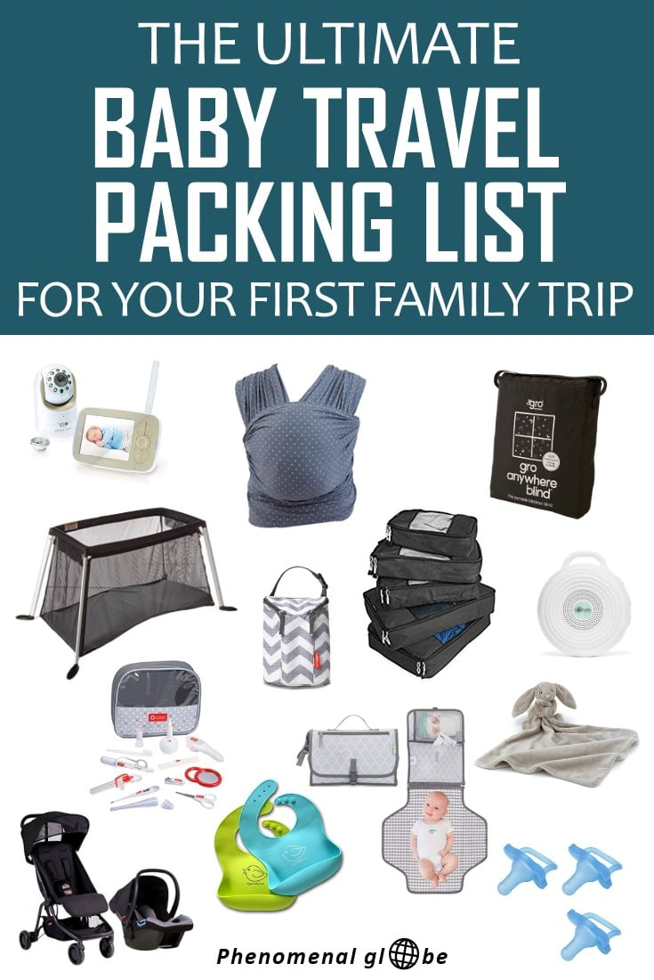 how to pack for travel with baby