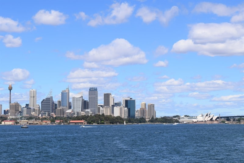 Sydney skyline from the ferry