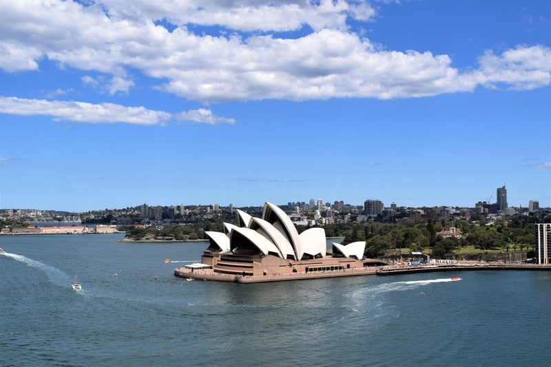 The Sydney Opera House is located in Circular Quay and is best seen from the Harbour Bridge