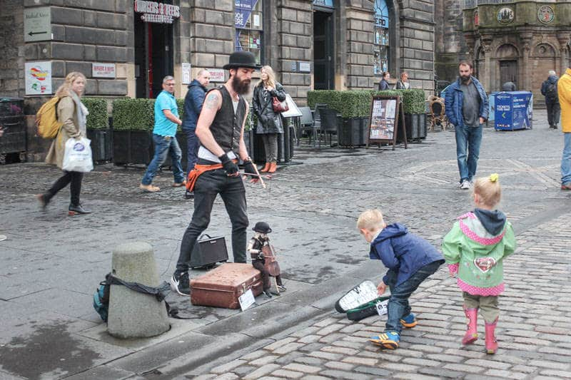 Edinburgh with kids - photo by Happiness Travels Here