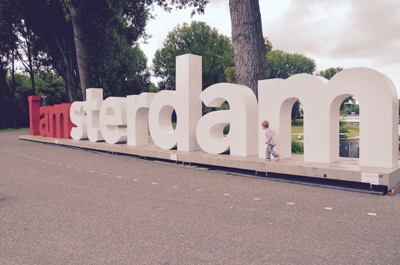 I Amsterdam sign - best places to see in Amsterdam with kids