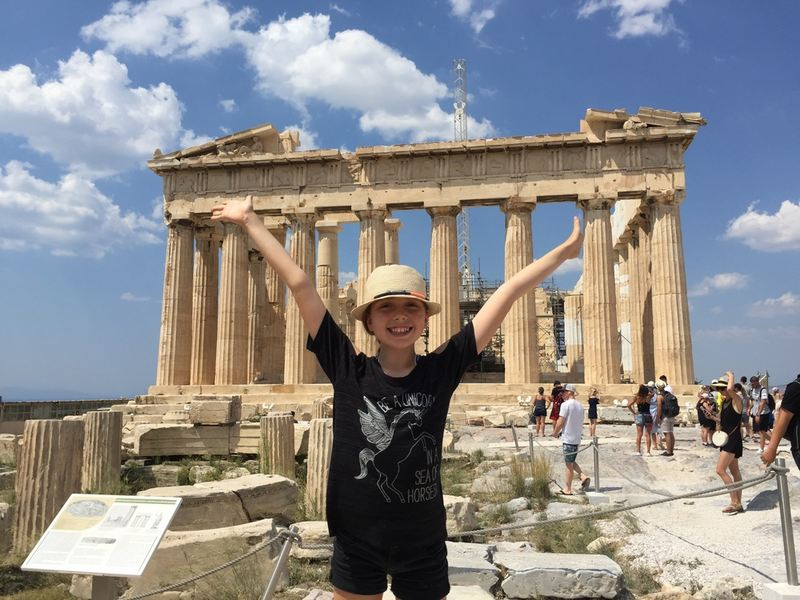 Percy Jackson fan in Athens - visit Athens with kids