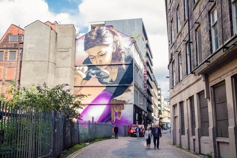 Street art in Glasgow - Photo by Kathi Kamleitner