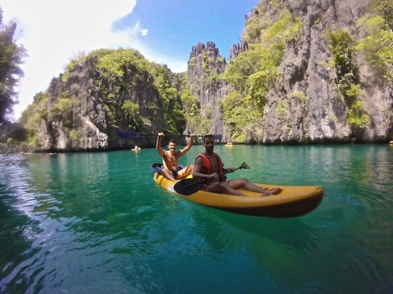 Kayaking in El Nido Nomadic Boys