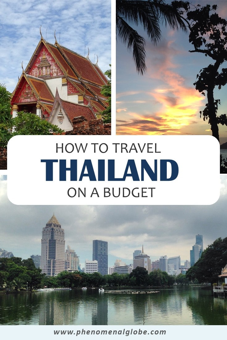 Curious to know how much it costs to travel around Thailand? We spent €60/$67 on an average day as a couple (€30/$34 per person). Check out this more details of this budget breakdown (costs for accommodation, transport, food & drinks and activities) on Phenomenal Globe Travel Blog. #Thailand #TravelBudget #TravelTips