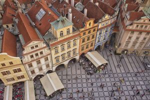 View from the top in Prague