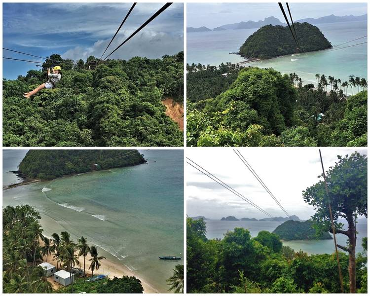 Ziplining in El Nido Palawan, the Philippines
