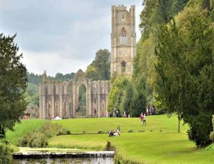 The Fountains Abbey in Yokshire Dales