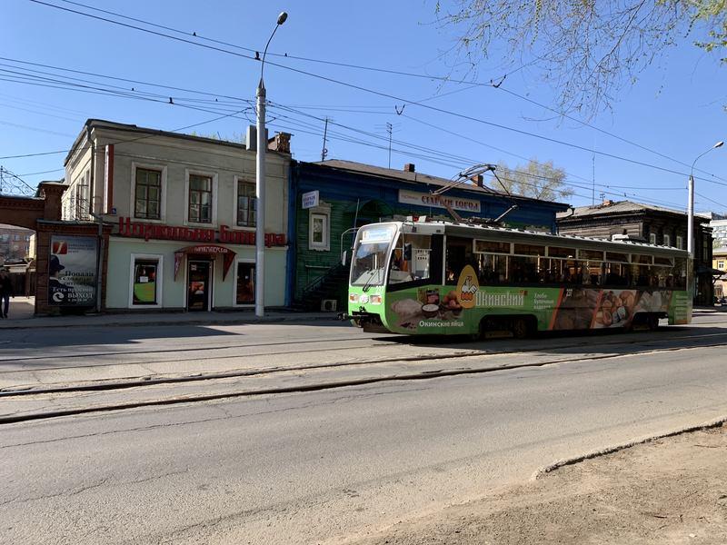 Tram in Irkutsk
