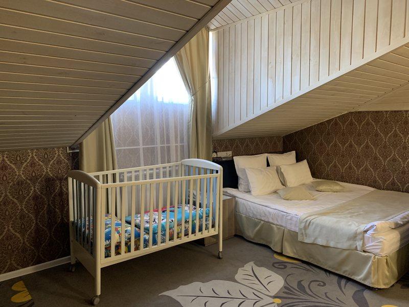 Attic room in Kupechesky Dvor hotel Irkutsk