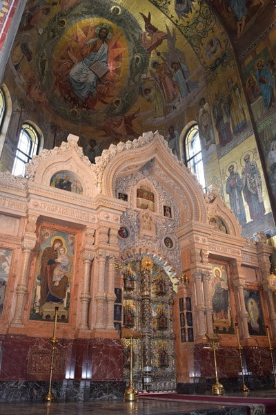 Interior of The Church of the Savior on the Spilled Blood