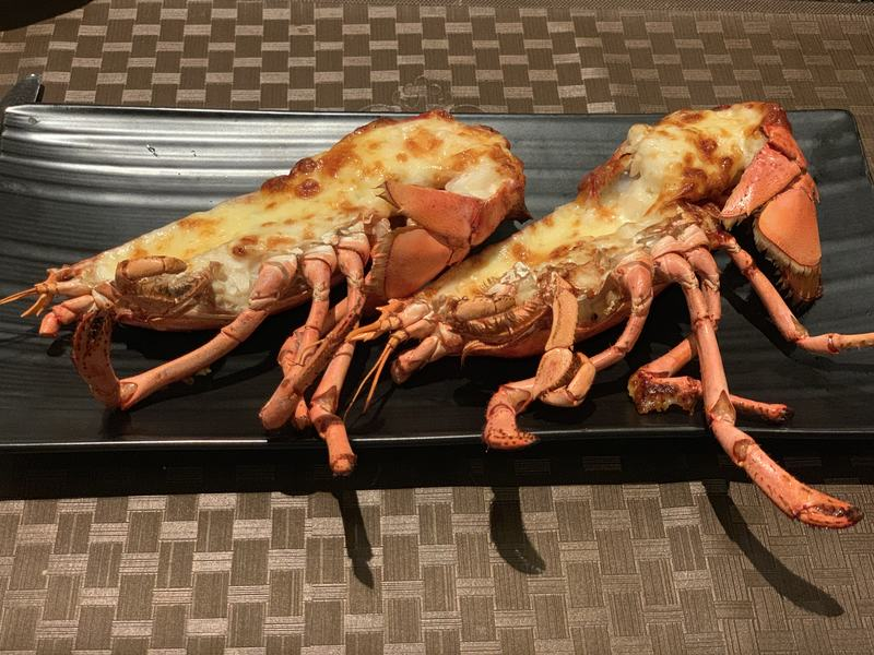 Lobster with cheese at the Zhaolin Grand Hotel