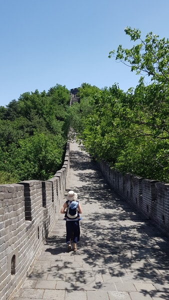 Mutianyu Great Wall with a baby