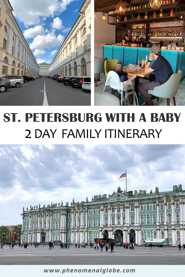 A 2-day family friendly itinerary for St. Petersburg, Russia. Check out which places not to miss when in St. Petersburg and all the other important stuff you need to know when visiting St. Petersburg with a baby. #StPetersburg #Russia #FamilyTravel
