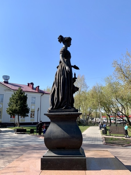 Statue of Decembrist wives Irkutsk