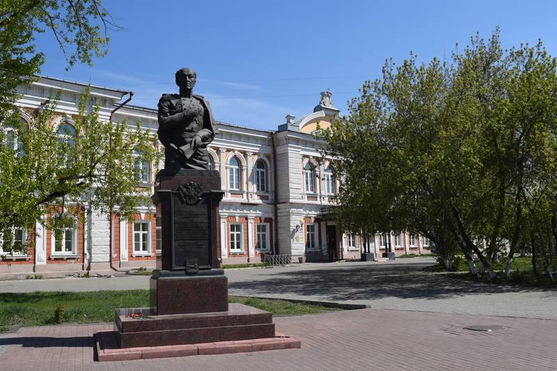 Statue in Irkutsk