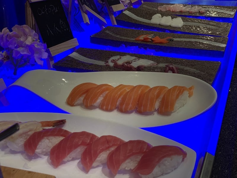 Sushi at the All Day Dining restaurant Zhaolin Grand Hotel