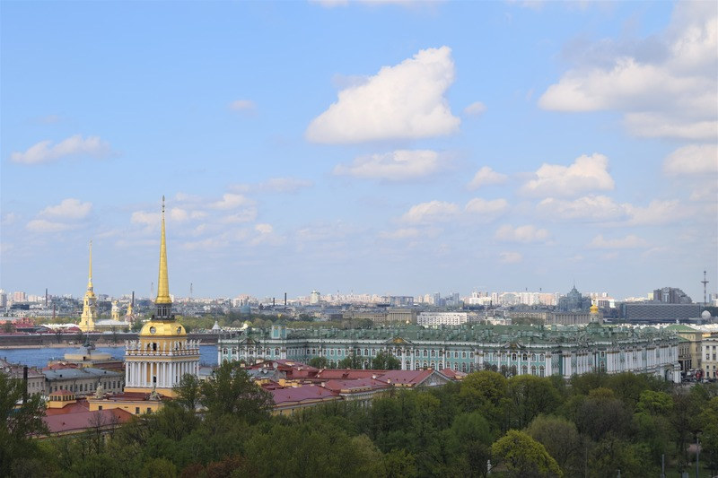 View from St. Isaac's Cathedral in St. Petersburg