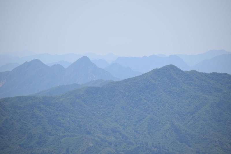 View from the Great Wall at Mutianyu