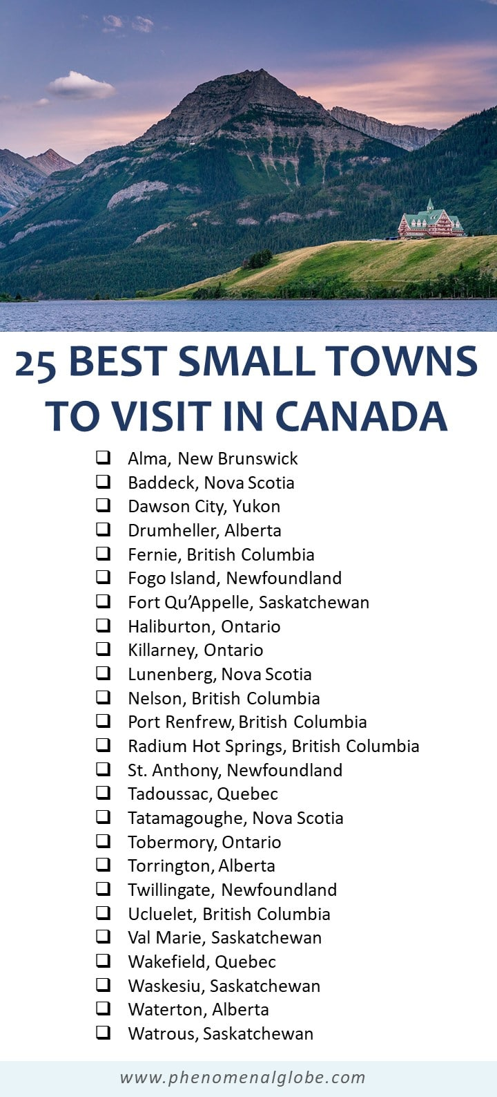 You probably haven't been to these 25 incredible small towns across Canada! Full of picturesque charm, beautiful nature and unique character and worth a spot on your Canada travel bucket list. #Canada #SmallTowns #OffTheBeatenTrack