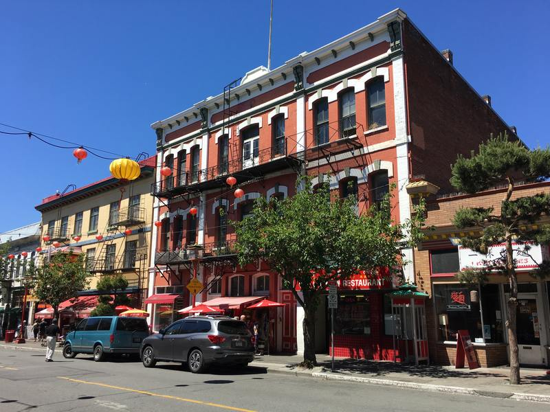 Historic building in Victoria Old Town