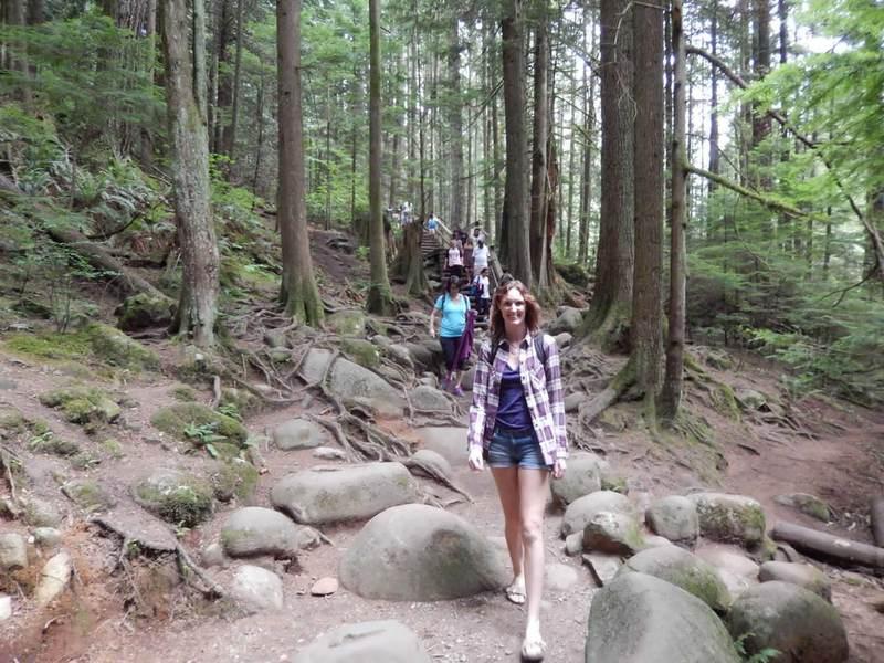 Hiking trail in Lynn Canyon Park