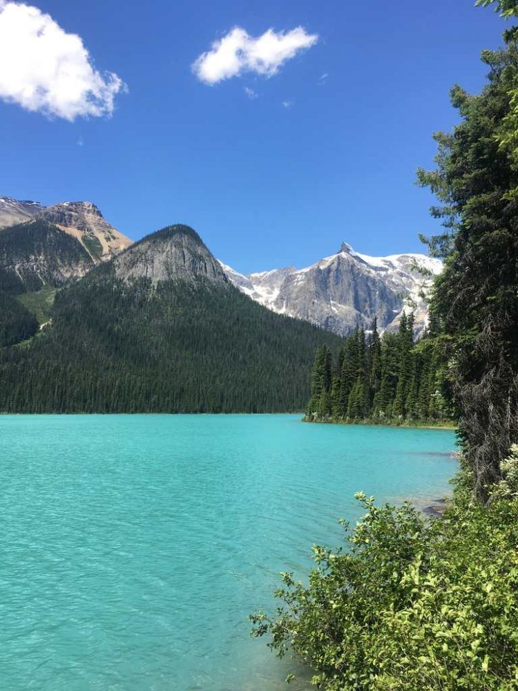 The Emerald Lake in Yoho National Park BC