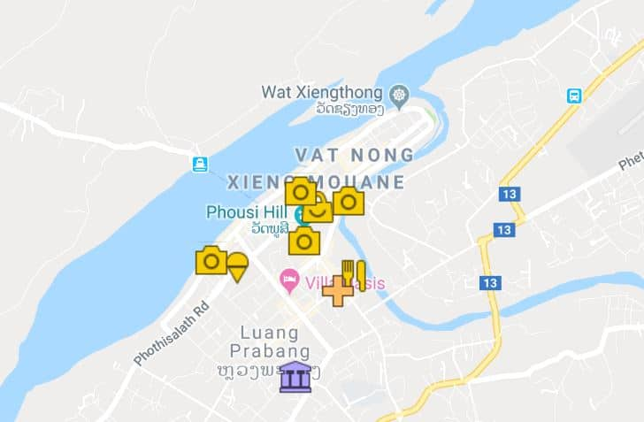 Things to do in Luang Prabang - map
