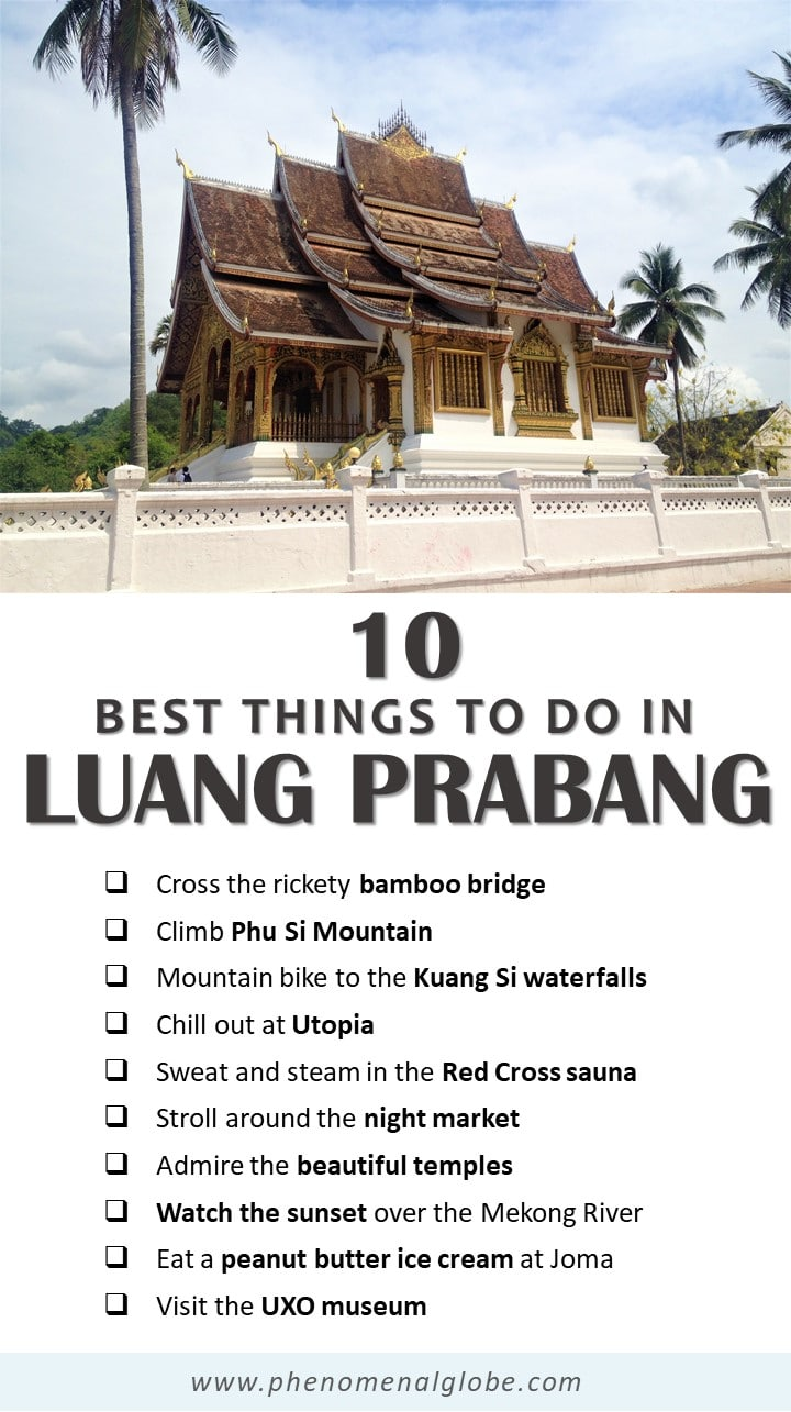 Read about the best things to do in Luang Prabang, Laos. Luang Prabang is known for its many temples, but there are many other fun activities to do in this beautiful and laidback village in Northern Laos. #LuangPrabang #Laos #SEAsia