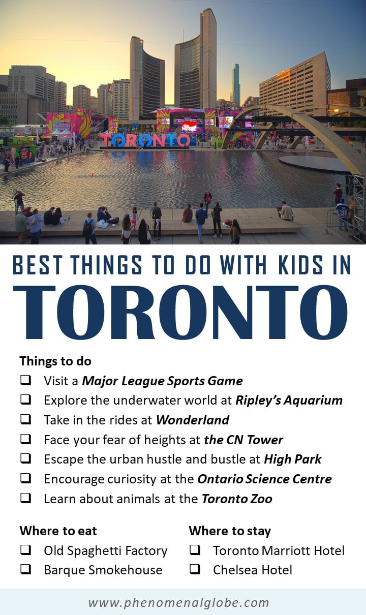 Best things to do in Toronto with kids