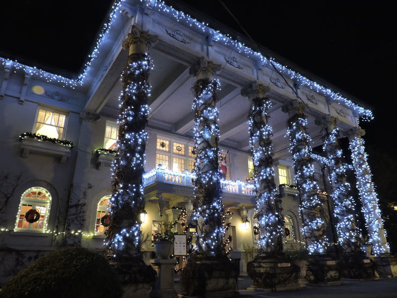 Hycroft House winter lights Vancouver