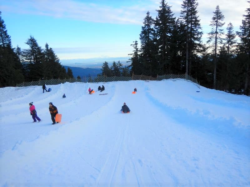 Mount Seymour Vancouver Toboggan Hill - photo by Lindsay Lalonde