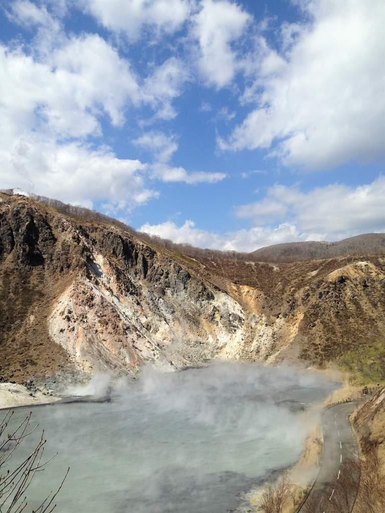 Steaming Oyunuma Pond Hokkaido